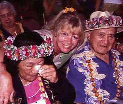 Gerda/Ke'ola with Aunty Margaret and Uncle Dan Machado
